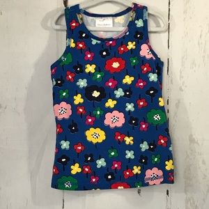 HANNA ANDERSSON blue flower tank top